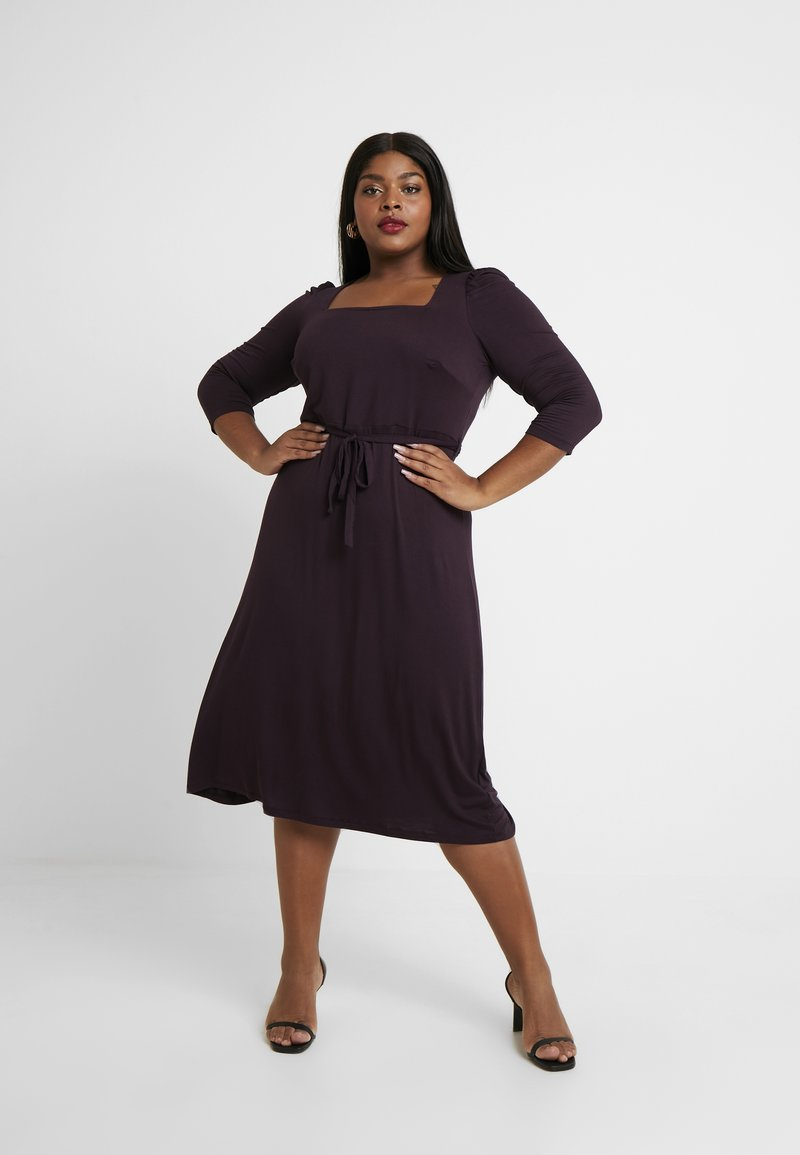 Dorothy Perkins Curve - BERRY MOLLY GRAZER DRESS - Sukienka z dżerseju - berry