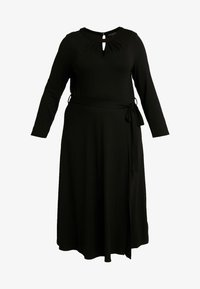 Dorothy Perkins Curve - KEYHOLE MIDI DRESS - Jerseykjole - black - 5