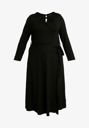 KEYHOLE MIDI DRESS - Žerzejové šaty - black