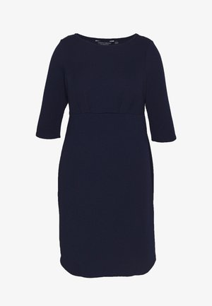 EMPIRE WAIST BODY CON DRESS - Robe en jersey - navy
