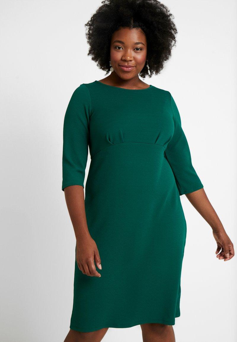 Dorothy Perkins Curve - EMPIRE WAIST BODY CON DRESS - Žerzejové šaty - green