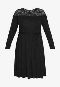 Dorothy Perkins Curve - VICTORIANA FIT AND FLARE DRESS - Robe fourreau - black - 4
