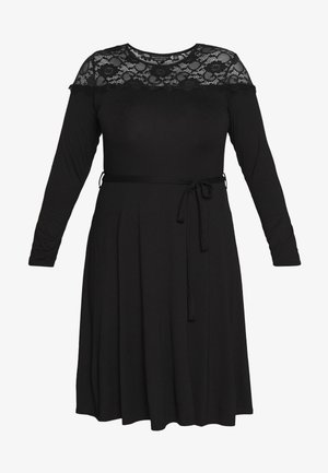 VICTORIANA FIT AND FLARE DRESS - Etuikjole - black