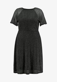 Dorothy Perkins Curve - KEYHOLE FIT AND FLARE - Vestido informal - black - 5