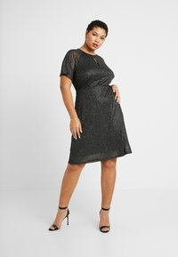 Dorothy Perkins Curve - KEYHOLE FIT AND FLARE - Day dress - black - 2