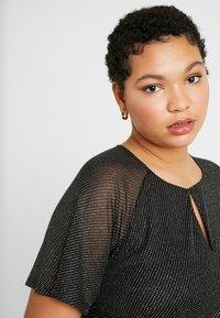 Dorothy Perkins Curve - KEYHOLE FIT AND FLARE - Vestido informal - black - 4