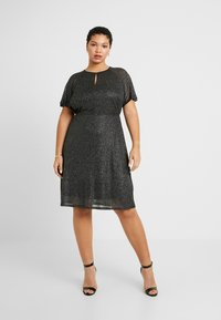 Dorothy Perkins Curve - KEYHOLE FIT AND FLARE - Day dress - black - 0