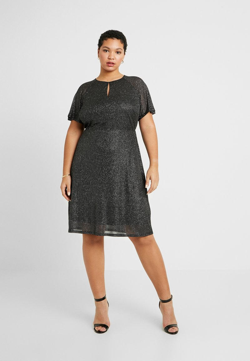 Dorothy Perkins Curve - KEYHOLE FIT AND FLARE - Day dress - black