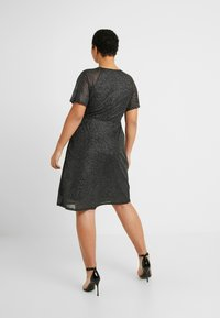 Dorothy Perkins Curve - KEYHOLE FIT AND FLARE - Day dress - black - 3