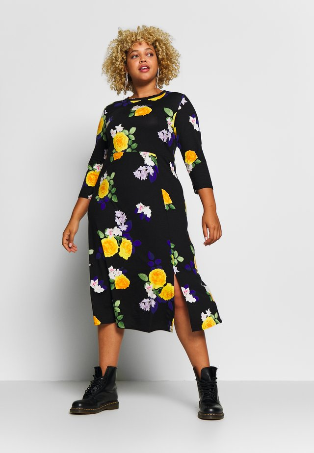 CURVE FASHION MIDI FLORAL - Maxi dress - multi-coloured