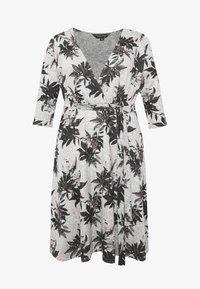 Dorothy Perkins Curve - BRUSHED WRAP DRESS - Jumper dress - multi - 4