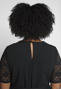 Dorothy Perkins Curve - LACE SHOULDER BELTED SHIFT DRESS - Robe de soirée - black - 4