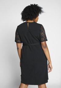 Dorothy Perkins Curve - LACE SHOULDER BELTED SHIFT DRESS - Robe de soirée - black - 2