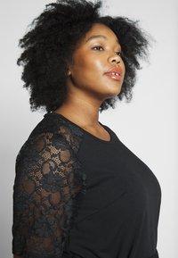 Dorothy Perkins Curve - LACE SHOULDER BELTED SHIFT DRESS - Robe de soirée - black - 3