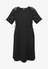 Dorothy Perkins Curve - LACE SHOULDER BELTED SHIFT DRESS - Robe de soirée - black - 5