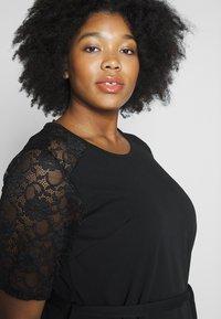 Dorothy Perkins Curve - LACE SHOULDER BELTED SHIFT DRESS - Robe de soirée - black - 6