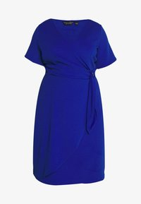 Dorothy Perkins Curve - SHORT SLEEVE D-RING WRAP - Vestido de tubo - cobalt - 4
