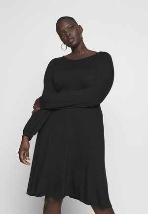EMPIRE DRESS - Jersey dress - black
