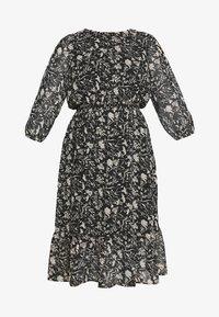 Dorothy Perkins Curve - CURVE MONO FLORAL MIDAXI DRESS - Denní šaty - multicoloured - 4