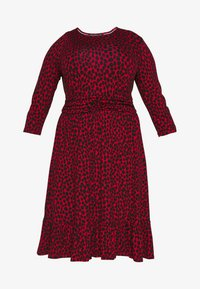 Dorothy Perkins Curve - BAND WAIST PRINT DRESS - Robe en jersey - red