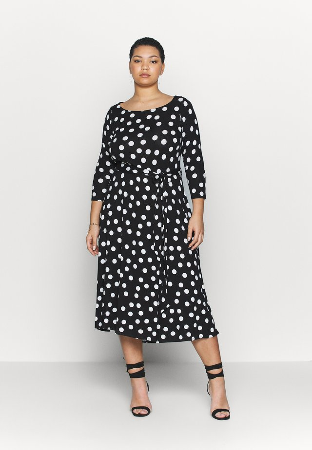 BILLIE MIDI DRESS - Trikoomekko - black