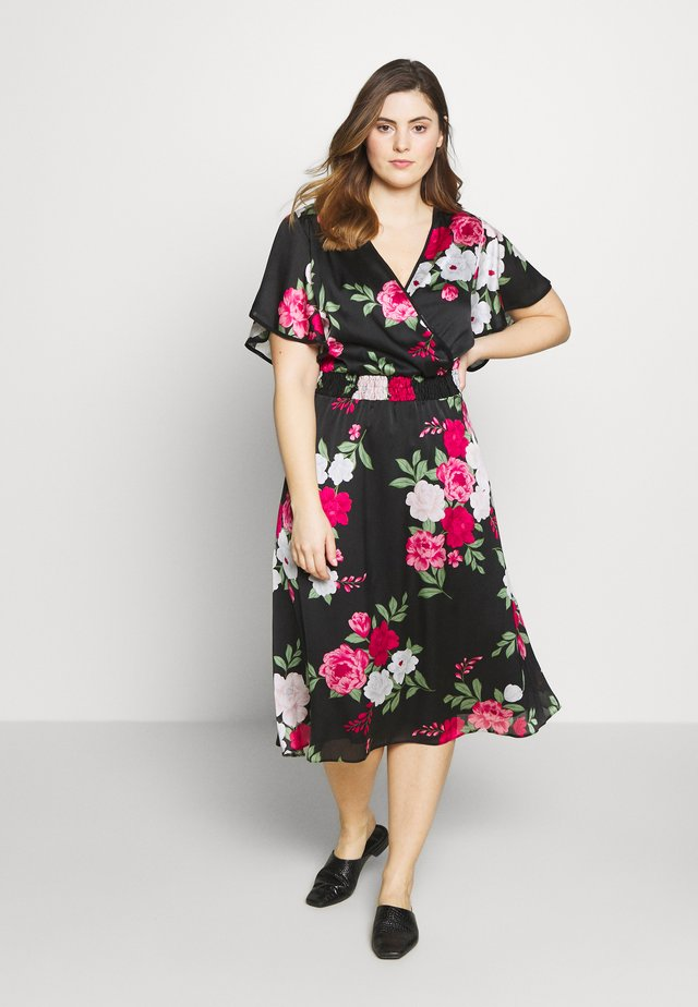 BILLIE AND BLOSSOM YORYU MIDI - Korte jurk - black