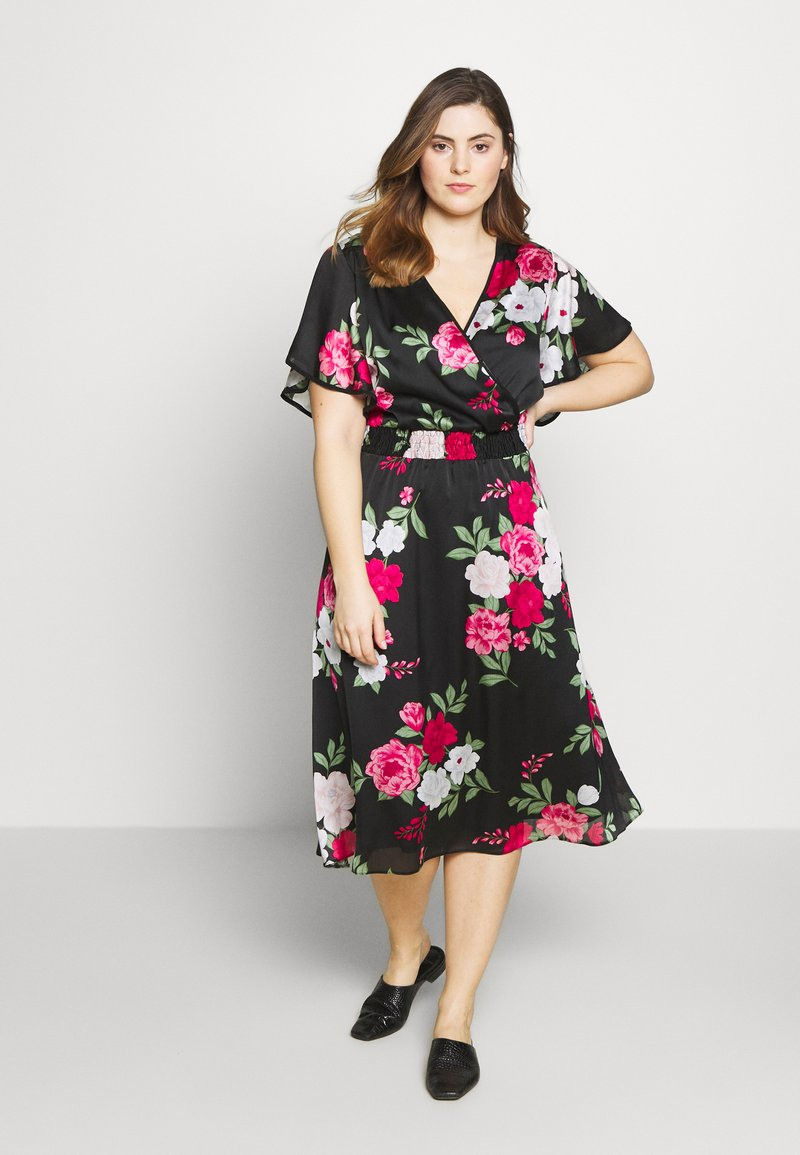 Dorothy Perkins Curve - BILLIE AND BLOSSOM YORYU MIDI - Denní šaty - black