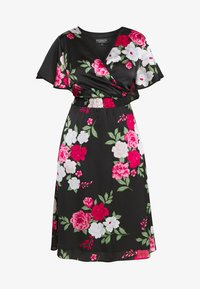 Dorothy Perkins Curve - BILLIE AND BLOSSOM YORYU MIDI - Denní šaty - black - 4