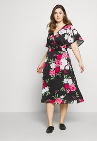 Dorothy Perkins Curve - BILLIE AND BLOSSOM YORYU MIDI - Denní šaty - black - 1