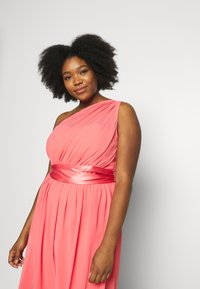 Dorothy Perkins Curve - JENNI ONE SHOULDER MIDI DRESS - Sukienka koktajlowa - coral - 3