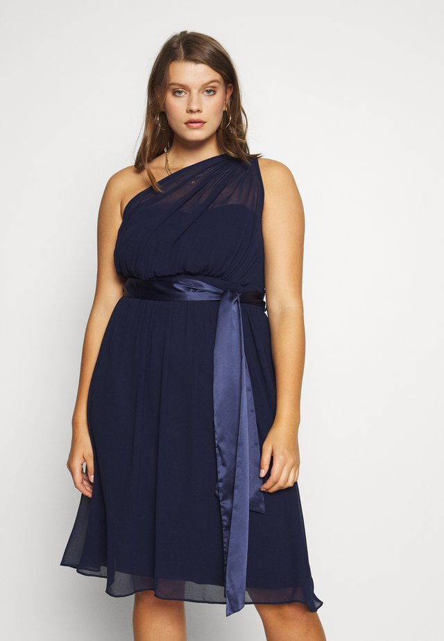 JENNI ONE SHOULDER MIDI DRESS - Cocktail dress / Party dress - navy