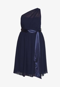 Dorothy Perkins Curve - JENNI ONE SHOULDER MIDI DRESS - Vestido de cóctel - navy - 5