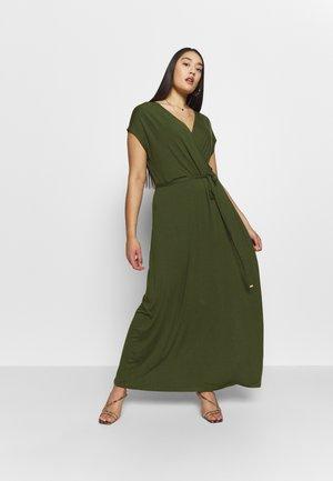 WRAP DRESS - Maxi dress - khaki