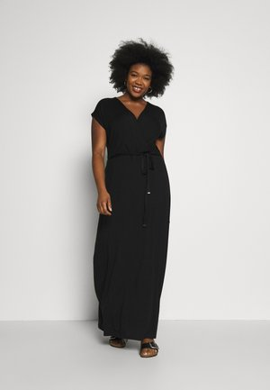 WRAP DRESS - Vestito lungo - black