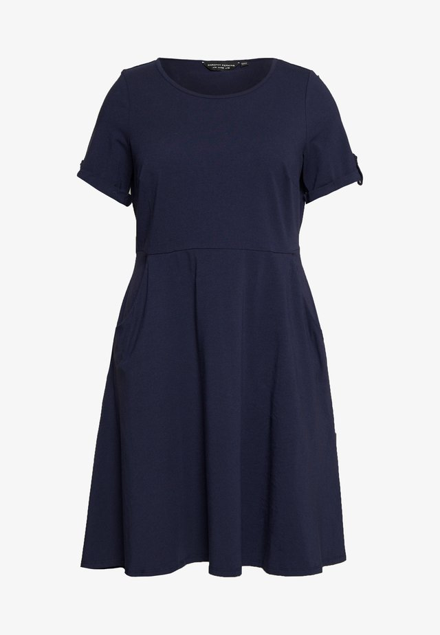 CURVE NAVY DRESS - Trikoomekko - navy