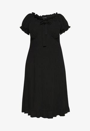 MILKMAID CRINKLE MIDI DRESS - Korte jurk - black