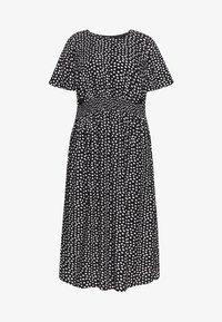 Dorothy Perkins Curve - SPOT SHIRRED WAIST MIDI DRESS - Robe d'été - black - 4