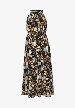 TIE NECK FLORAL DRESS - Maxi dress - multi coloured