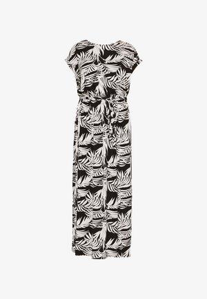 TIE BACKMAXI TROPICAL DRESS - Maxi šaty - black