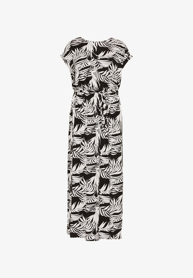 TIE BACKMAXI TROPICAL DRESS - Maksimekko - black