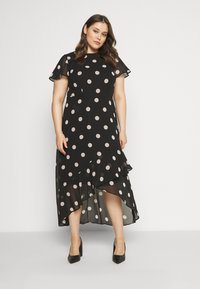 Dorothy Perkins Curve - CURVE OCCASION SLEEVE HIGH LOW MAXI DRESS BLUSH SPOT - Maxi šaty - multi - 1