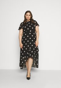 Dorothy Perkins Curve - CURVE OCCASION SLEEVE HIGH LOW MAXI DRESS BLUSH SPOT - Maxi šaty - multi - 0