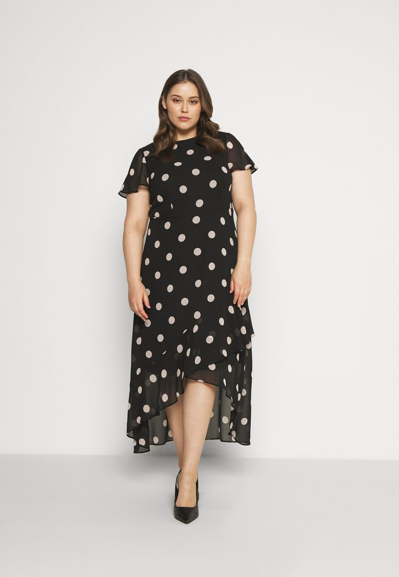 Dorothy Perkins Curve - CURVE OCCASION SLEEVE HIGH LOW MAXI DRESS BLUSH SPOT - Maxi šaty - multi