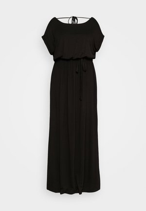 TIE BACK DRESS - Vestito lungo - black
