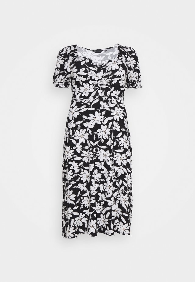 CURVE RUCHED FLORAL MIDI - Freizeitkleid - multi coloured