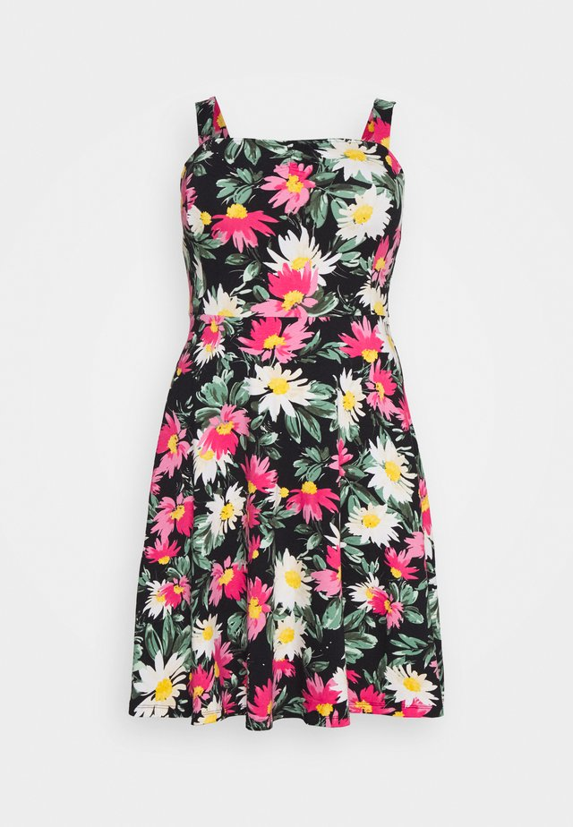 STRAPPY FLORAL DRESS - Freizeitkleid - multi-coloured