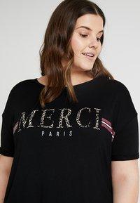 Dorothy Perkins Curve - MERCI LEOPARD - T-shirts med print - black - 4