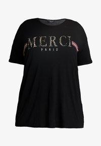 Dorothy Perkins Curve - MERCI LEOPARD - T-shirts med print - black - 5