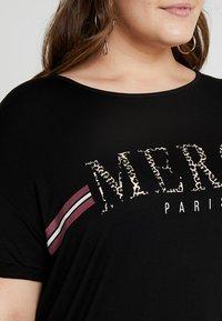 Dorothy Perkins Curve - MERCI LEOPARD - T-shirts med print - black - 6