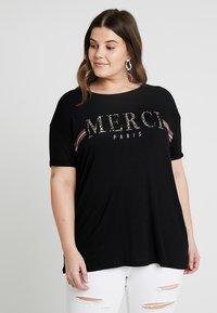 Dorothy Perkins Curve - MERCI LEOPARD - T-shirts med print - black - 0